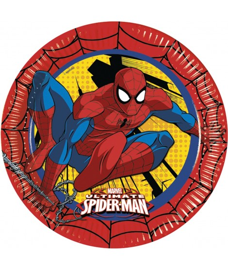 Platos Ultimate Spiderman 8 Uds