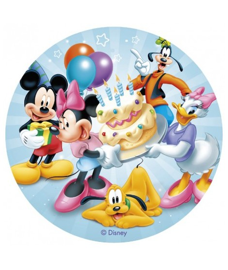 12 Discos Oblea Mickey & Friends (20 Cm)