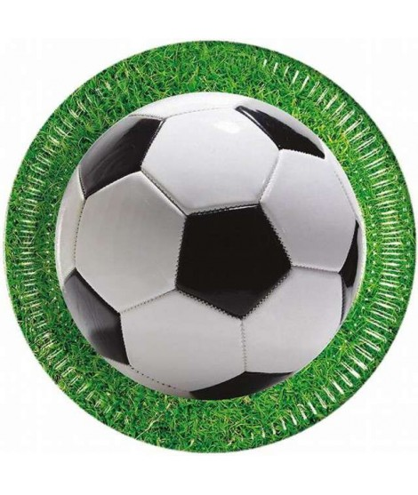 Platos Football Party (23 Cm) 8 Unidades