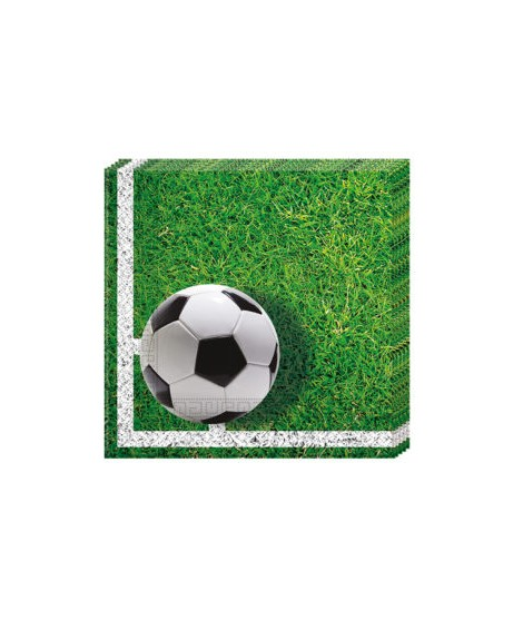 Servilletas Football Party (33 Cm X 33 Cm) 20 Unidades