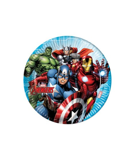 PLATOS MIGHTY AVENGERS (23 CM) 8 UNIDADES