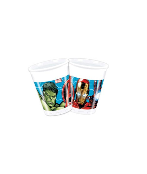 Vasos Mighty Avengers (200 Ml) 8 Unidades