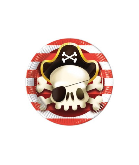 Platos Powerful Pirates (23 cm) 8 uds