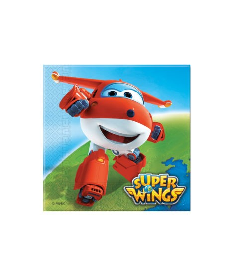 Servilletas Super Wings (33 Cm X 33 Cm) 20 Unidades