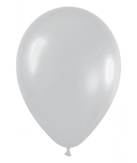Globo Latex Satinado Plata