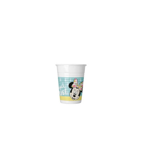 Vasos Minnie Tropical (200 Ml) 8 Unidades