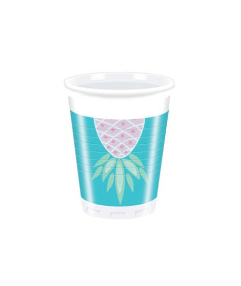 Vasos Pineapple (200 Ml) 8 Unidades