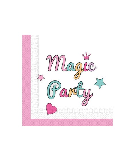 Servilletas Magic Party (33 Cm X 33 Cm) 20 Unidades