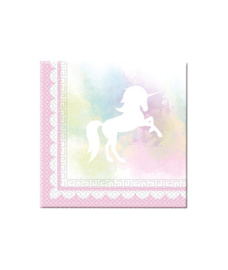 Servilletas Believe In Unicorns (33 Cm X 33 Cm) 20 Unidades