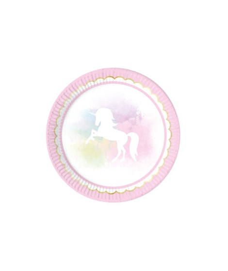 Platos Believe In Unicorns (23 Cm) 8 Unidades