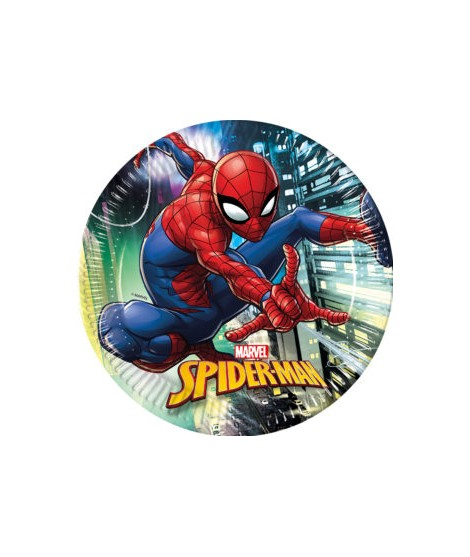 Platos Spiderman Team Up (23 Cm) 8 Unidades