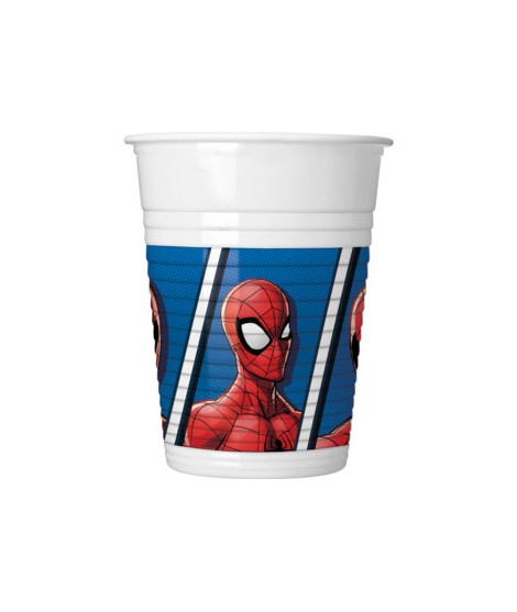 Vasos Spiderman Team Up (200 Ml) 8 Unidades