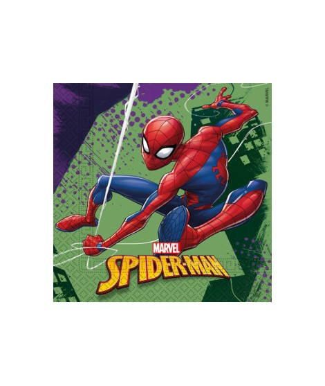 Servilletas Spiderman Team Up (33 Cm X 33 Cm) 20 Unidades