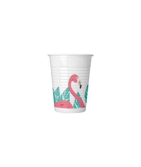 Vasos Flamingo (200 Ml) 8 Unidades