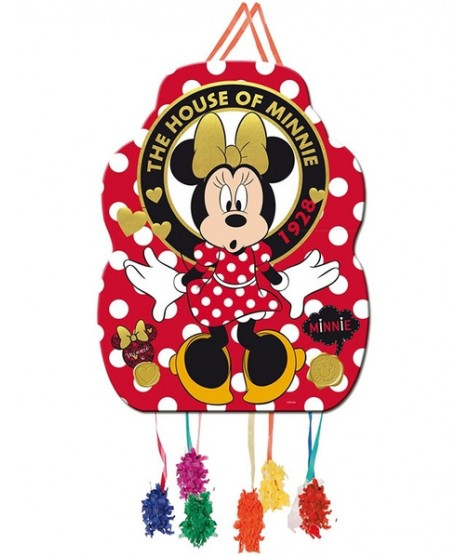 Piñata Perfil Minnie Mouse Gold