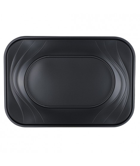Bandeja Negra Rectangular X-Table (33 Cm X 23 Cm) 2 Unidades