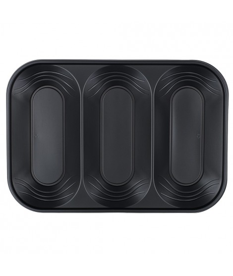 Bandeja Triple Negra Rectangular X-Table (33 Cm X 23 Cm) 2 Unidades