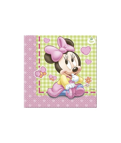 Servilletas Baby Minnie 20 Uds
