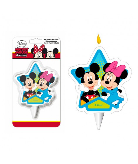 VELA MICKEY Y MINNIE (7,5 CM)