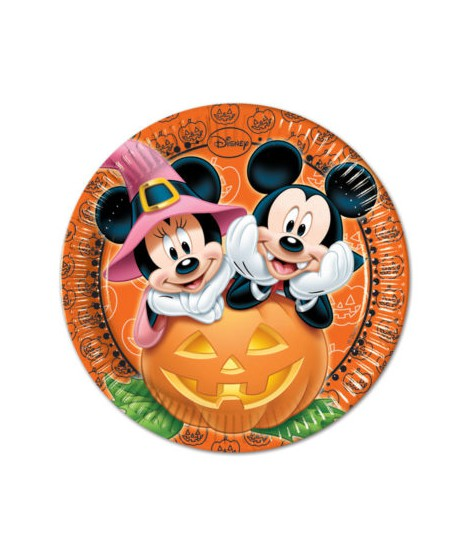 PACK 8 PLATOS DISNEY MICKEY HALLOWEEN (23 CM)