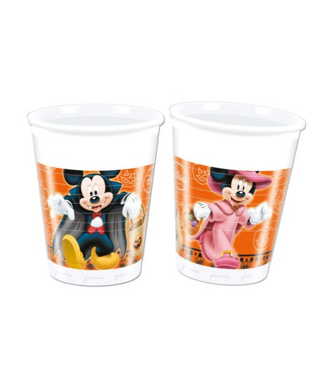 PACK 8 VASOS (200 ML) DISNEY MICKEY HALLOWEEN
