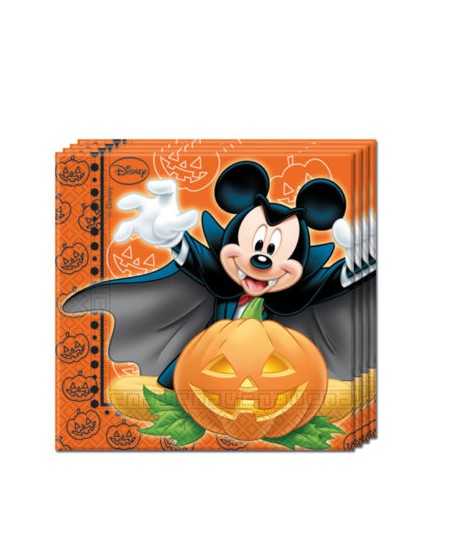 PACK 20 SERVILLETAS DISNEY MICKEY HALLOWEEN (33 X 33 CM)