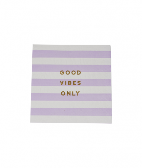 Servilletas Lila Good vibes only 20 ud