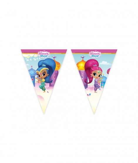 Banderin triangulo Shimmer and Shine 2,3 m