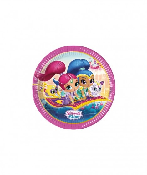 Platos shimmer and shine 8 ud