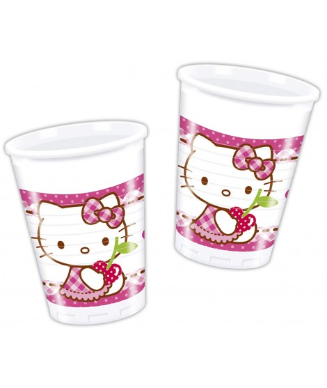 Bolsa vasos Hello Kitty 8 Uds