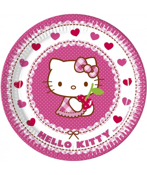 Platos Hello Kitty 8 Uds