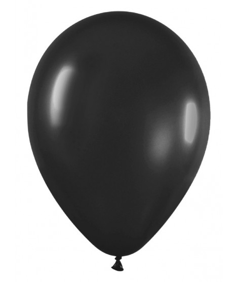 Globos Negros Fashion R12 50 Uds