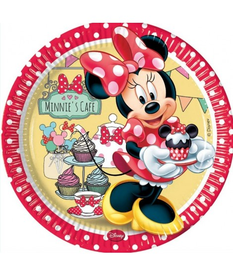 Platos Minnie's cafe 8 Uds