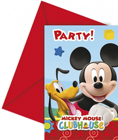 Invitaciones Mickey Playful 6 Uds
