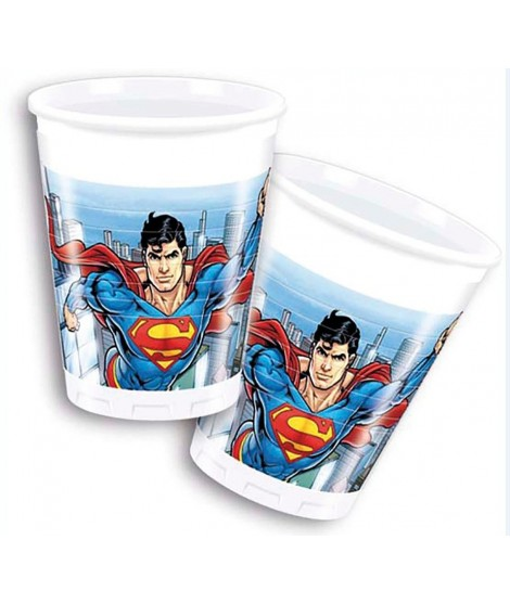 Vasos Superman 8 Uds