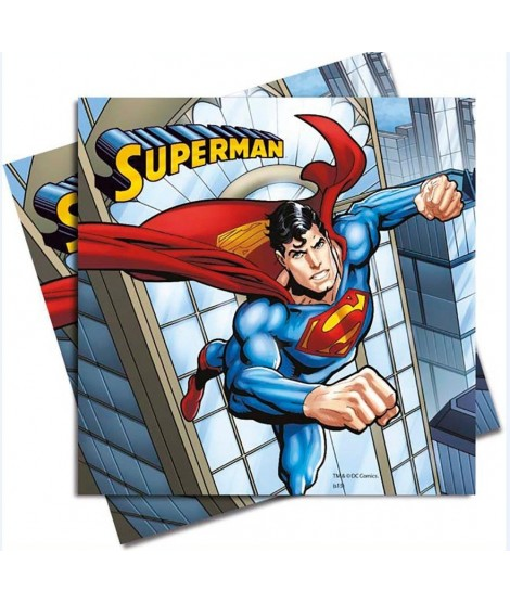 Servilletas Superman 20 Uds